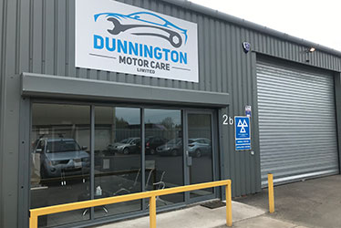 Front of Garage - MOT, Tyres, Servicing & Repairs York